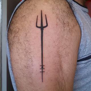 simple trident tattoo design