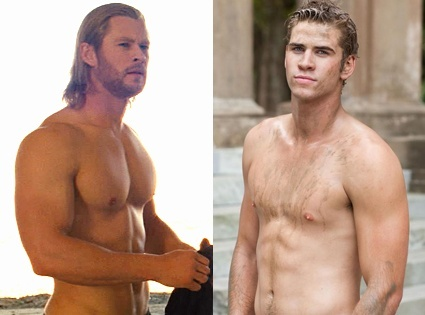 And on the eighth day, God created the Hemsworth brothers. ;)