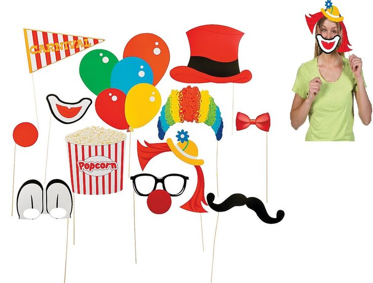 carnival photo booth props 12 - Costume Props