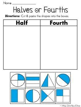 half or fourth cut and paste sorts teacher ideas cut paste worksheets fractions worksheets. Black Bedroom Furniture Sets. Home Design Ideas