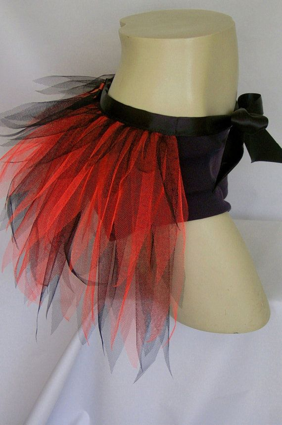 Adult  Black Red  Tutu Bustle  Bustle Tutu  by NiteLifeFashion