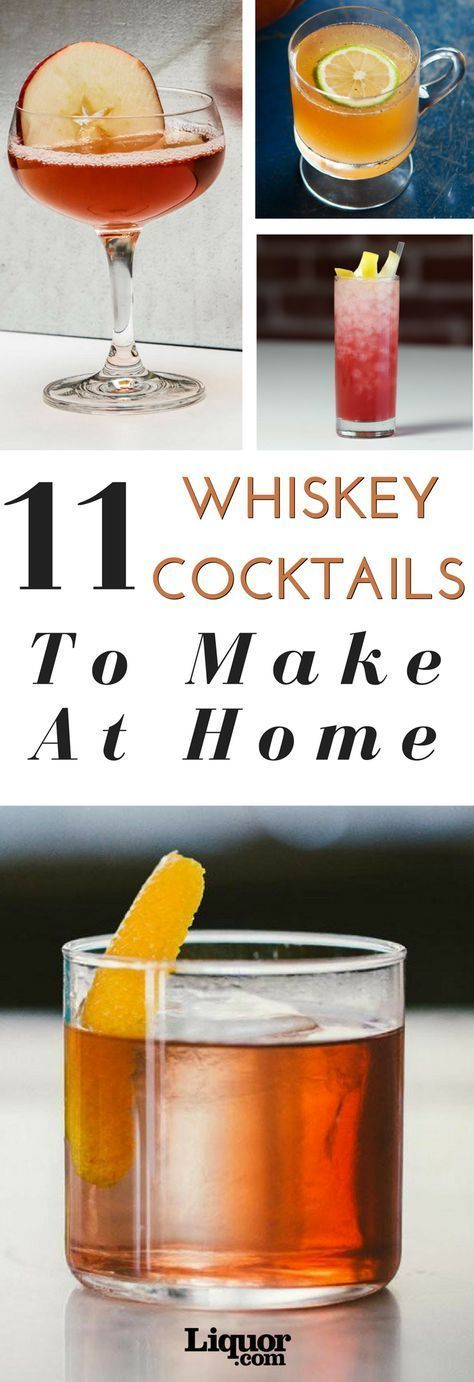 March is Whiskey Month, and the only proper way to celebrate is with a whiskey cocktail (or two). Whether you choose Canadian whisky, rye, bourbon, scotch or Japanese whisky, mixed into a Tiki cocktail or a classic highball, there are plenty of ways to celebrate the month. Try these 11 whiskey cocktails today. #whiskydrinks