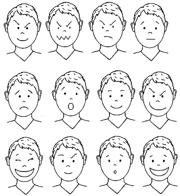 Caritas de niños para colorear de emociones - Imagui