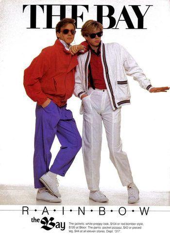 1980er Mode-Anzeige