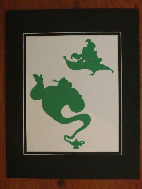 Aladdin genie silhouette dance pinterest jasmine for Aladdin and jasmine on carpet silhouette