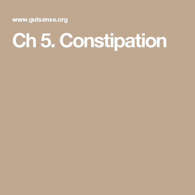 Ch 5. Constipation