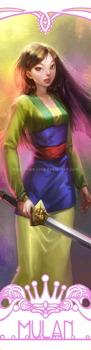 Disney Princesses Bookmarks: Mulan by hart-coco.deviantart.com on @deviantART - Fifth in a series