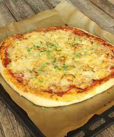Lika god botten som på pizzerian! Toppa med valfri fyllning! Steg-för-stegbilder visar hur man gör!
