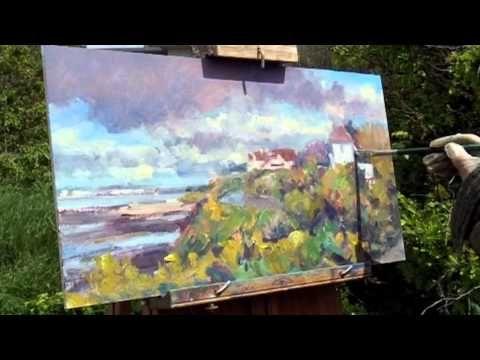 ▶ Edward Seago style En Plein Air oil painting - YouTube