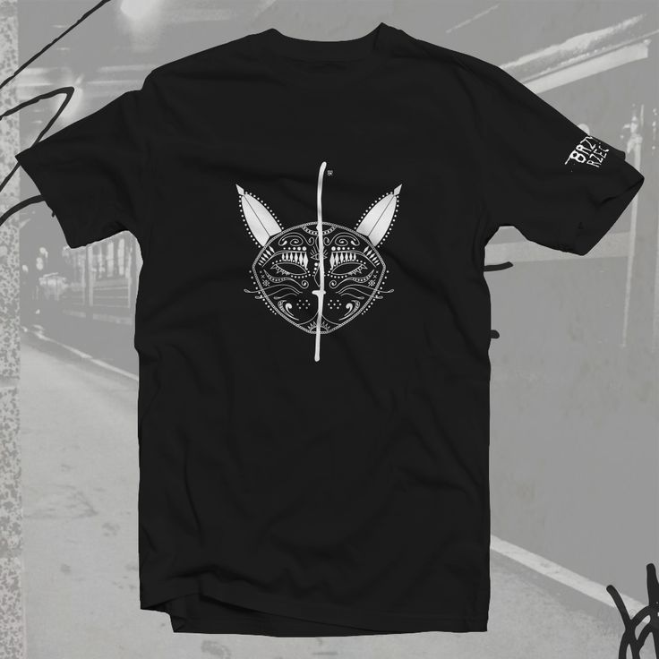 Koszulka BRZYDKI KOT - bawełna czarna unisex