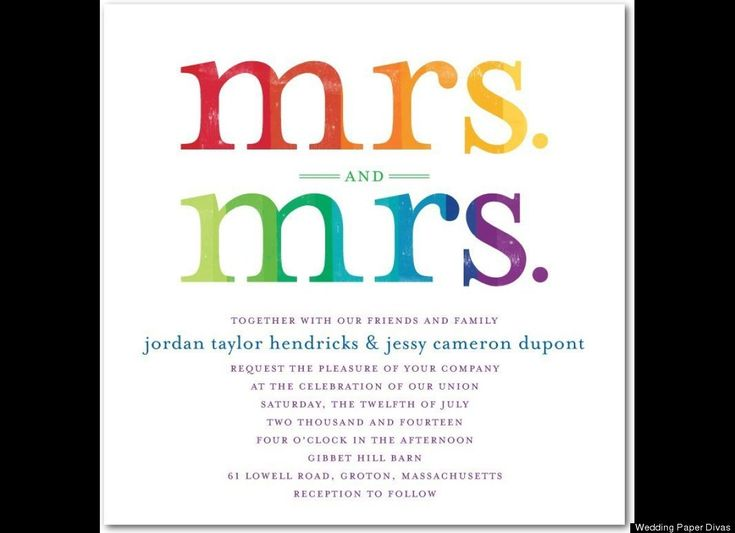 Gay Marriage Wedding Invitations: LOOK: 12 Beyond Lovely Same-Sex Wedding Invites