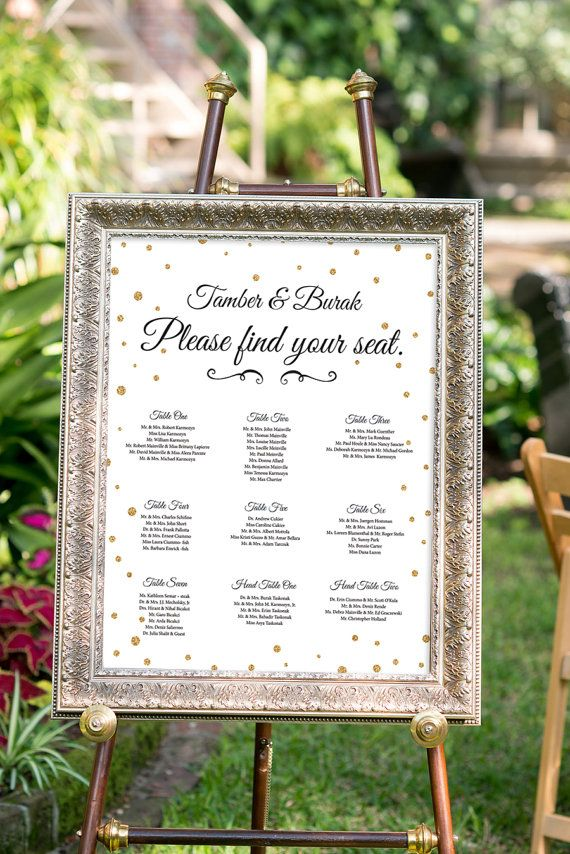 Wedding Seating Chart Poster Wedding Seating Chart by nelladesigns