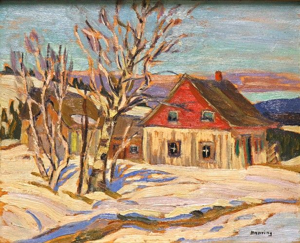 Sir Frederick Banting - Charlevoix County, c. 1935 (8.5 z 10.5 Oil on panel)