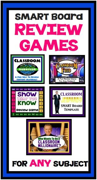 Fun and Engaging Review SMART Board Games To Review For ANY Subject :)  Your Students Will Love These!