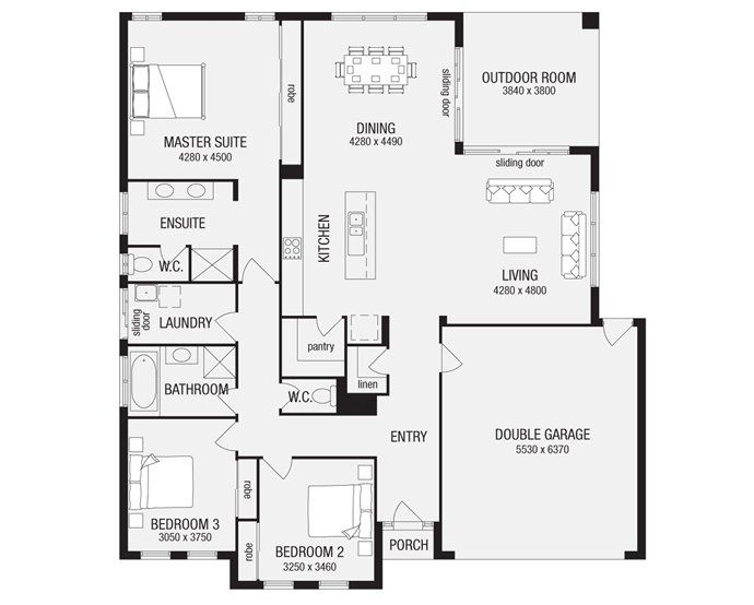 Grandview 24, New Home Floor Plans, Interactive House Plans - Metricon Homes - Queensland
