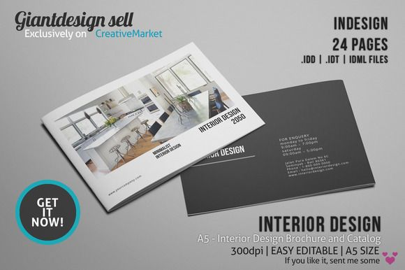 A5 interior design brochure catalog brochures brochure for Indesign interior