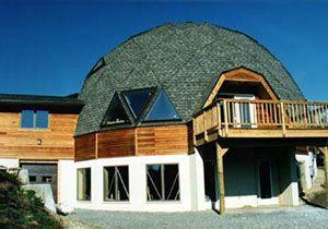 Casa con #cupulageodésica | Casasdemaderaymas.com