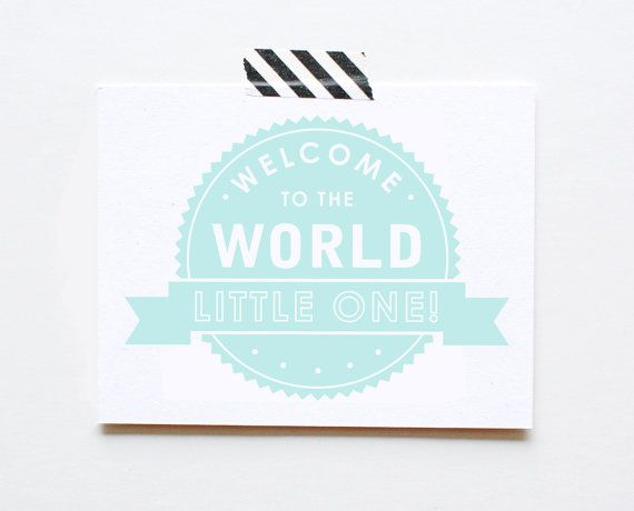New Baby Card Welcome Little One Baby Shower by ThePaperCub, $5.00