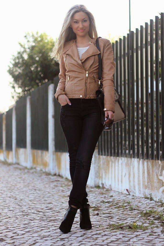 look do dia, ootd, look of the day, biker jacket, camel, ripped jeans, skinny jeans, spring trends, animal print, tendências primavera verão 2014, casual look, guess, stradivarius, bershka, promod, calças de ganga rasgadas, casaco motard, dicas de imagem pessoal, consultoria de imagem, blog de moda, blogue de moda, style statement, blog de moda portugal, blogues de moda portugueses, la siesta, margarita
