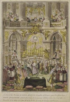 The wedding of Louis XVI and Marie Antoinette, ca. 1770 engraving, French school