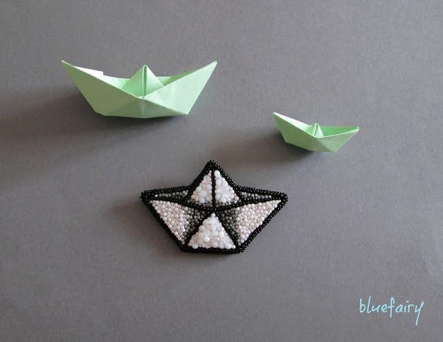 bluefairy art: On Board, broszka