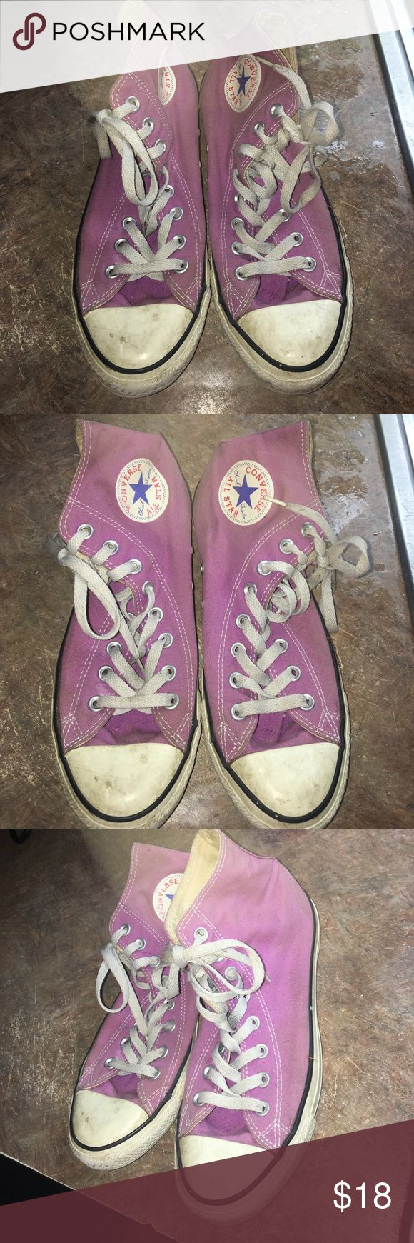 Pink/Purple Converse All Star Shoes Worn Converse Shoes. Can be cleaned Converse Shoes Sneakers