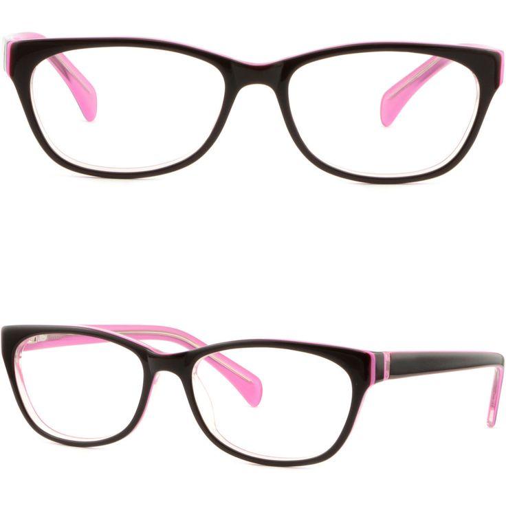 Women's Frames Spring Loaded Hinges Transitional Glasses Lenses Shiny Black Pink #Unbranded