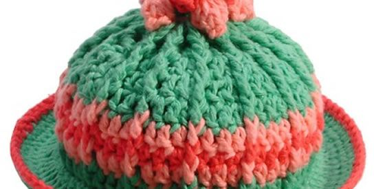 Baby Derby Hat - Making this in shades of Purple for Click for Babies. How cute is this little hat.
