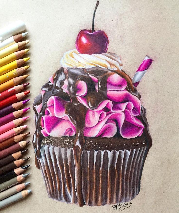 Пироженки рисунок акрилом