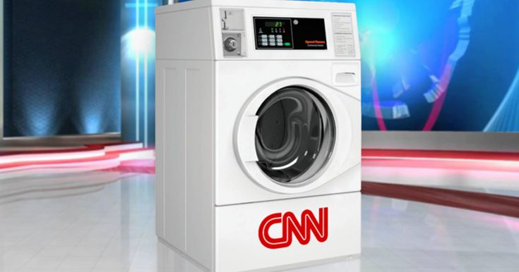 Satirical article claimed CNN purchased industrial-sized washer to spin news.