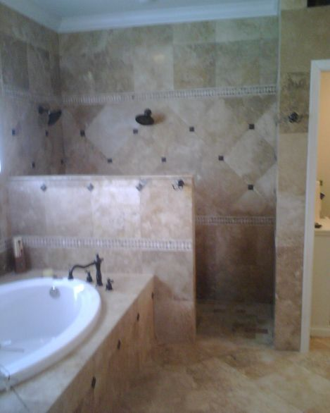 This is what I was imagining for a half wall  walk in shower for our master  bahBest 10  Shower no doors ideas on Pinterest   Bathroom showers  . Master Bath Walk In Shower. Home Design Ideas