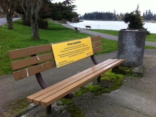 Unacceptable Installation by Greater Victoria Coalition to End Homelessness, via Flickr #unacceptableyyj #yyj