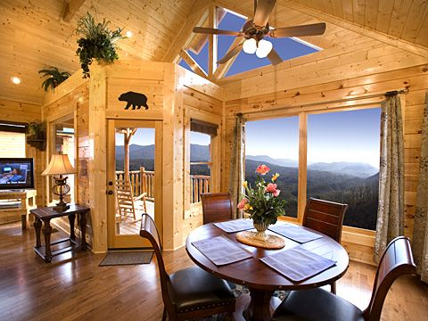 Spellbound has a view that is truly magical, gazing directly at Mt. LeConte