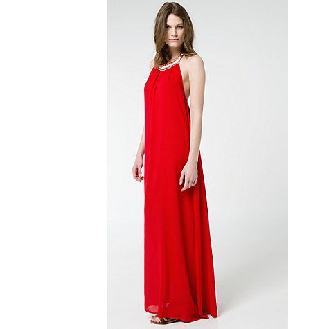 £20 Buy Mango Halter Neck Dress, Bright Red Online at johnlewis.com