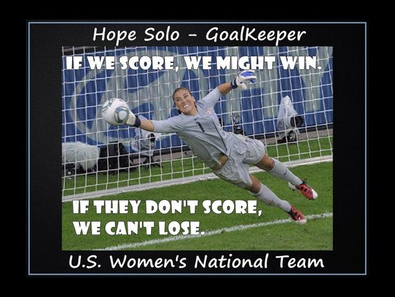 Soccer Poster Hope Solo Olympic World Cup by ArleyArtEmporium, $11.99