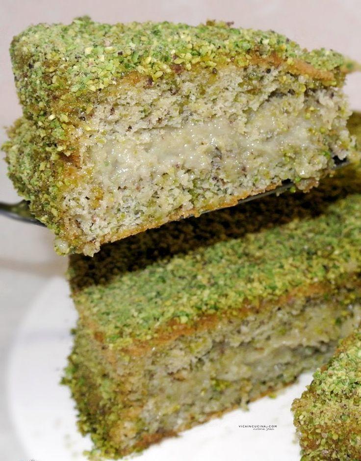 Torta+al+pistacchio+con+crema+al+pistacchio+fatta+in+casa+@vicaincucina