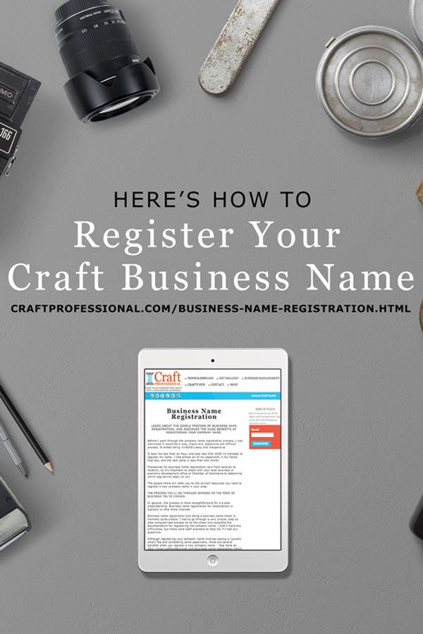 Haven't registered your business yet? You need to read this - http://www.craftprofessional.com/business-name-registration.html