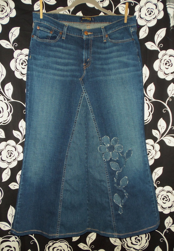 cut-out applique for your jean skirt