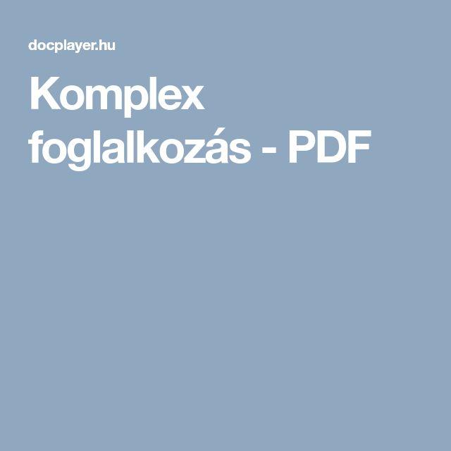 Komplex foglalkozás - PDF
