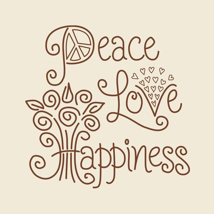 "Simple Stitch Peace Love Happiness Stamped Embroidery Kit-12""X12"" Stitched In Floss"
