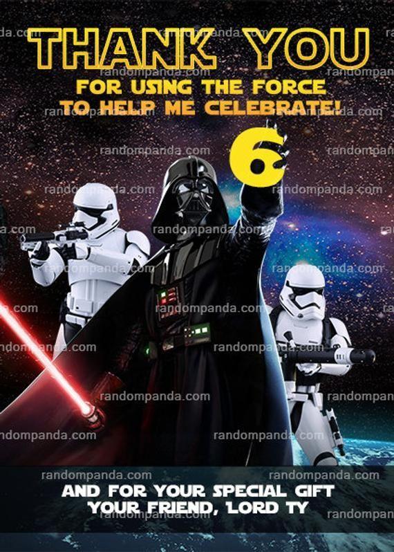 Darth Vader Party Star Wars In 2020 Star Wars Invitations Darth Vader Party Star Wars Birthday