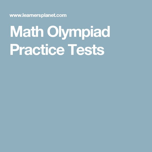 Math Olympiad Practice Tests
