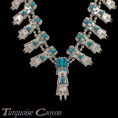 Navajo-Native-American-Turquoise-Corn-Maiden-Necklace-by-Yazzie-SKU-227099