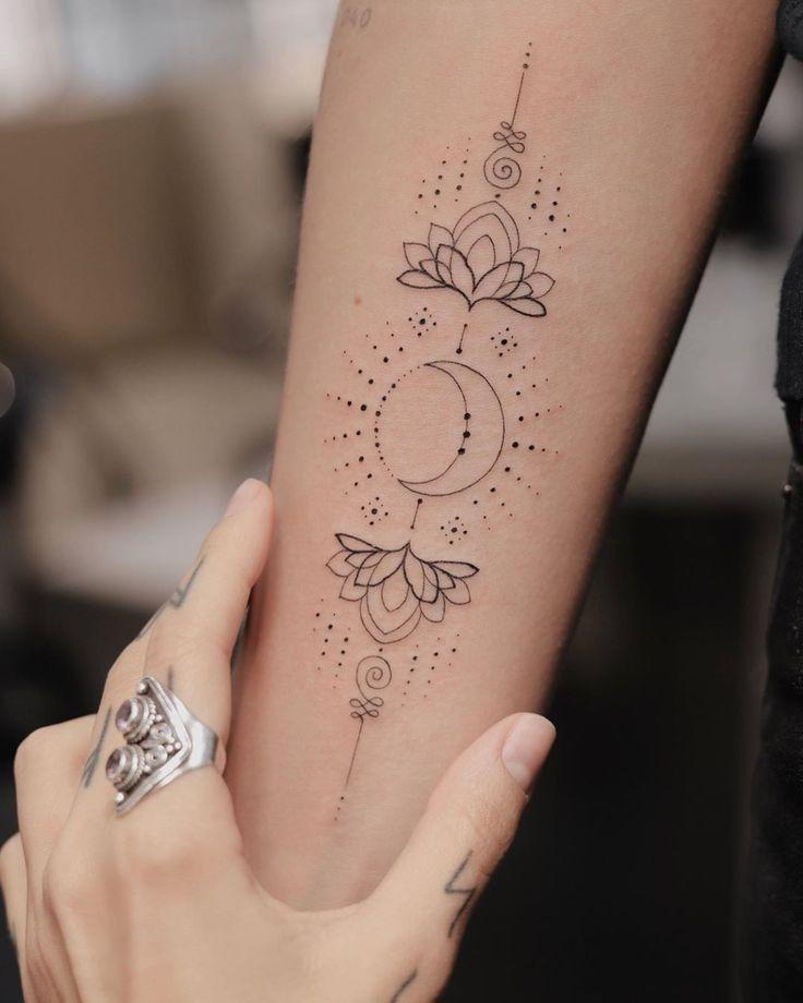 Tatuagem unalome: significado e 50 ideias para te inspirar | Tatuagem, Tatuagem delicada, Boas ideias para tatuagem