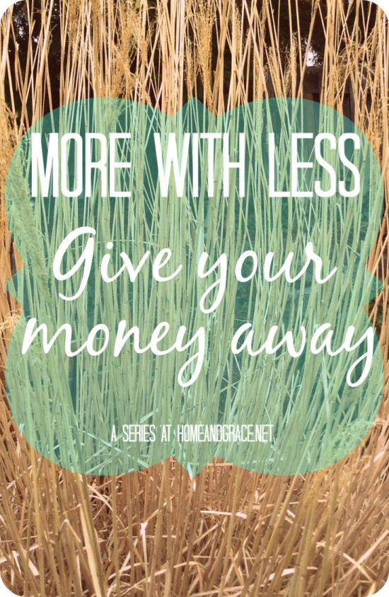 Want to transform your finances? Start by giving your money away.