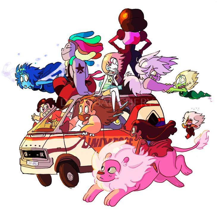 Steven Universe Gang-------ohh, this is cute!! If anyone knows who the artist is, tell me!!