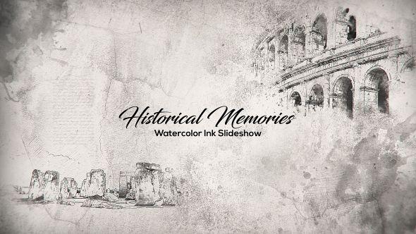 Historical Memories // Watercolor Ink Slideshow