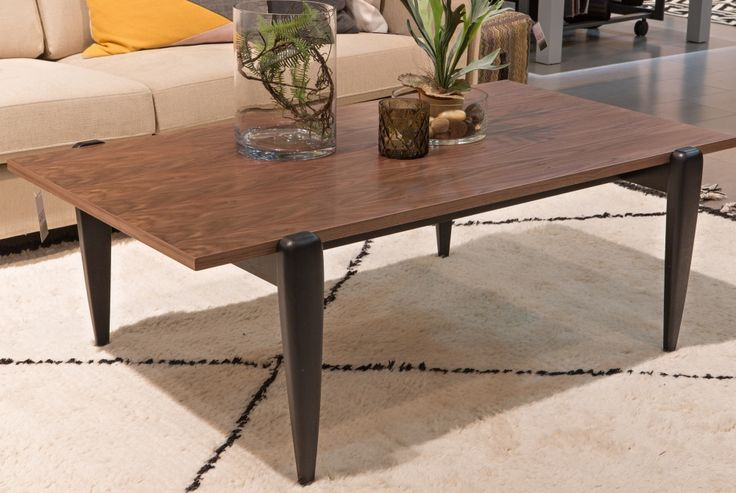 Spider Coffee Table Rectangle - walnut top and black leg http://www.soullifestyle.ie/search-result?title=spider
