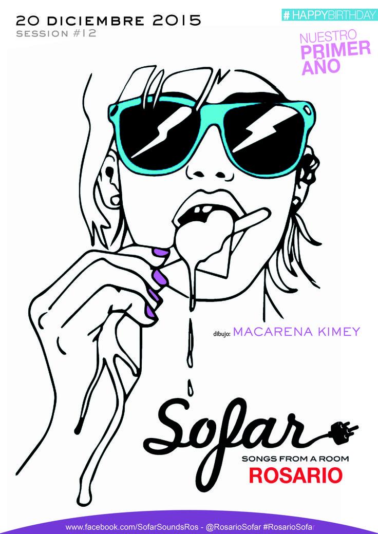 Diseño flyer - diciembre 2015 Sofar Sounds Rosario
