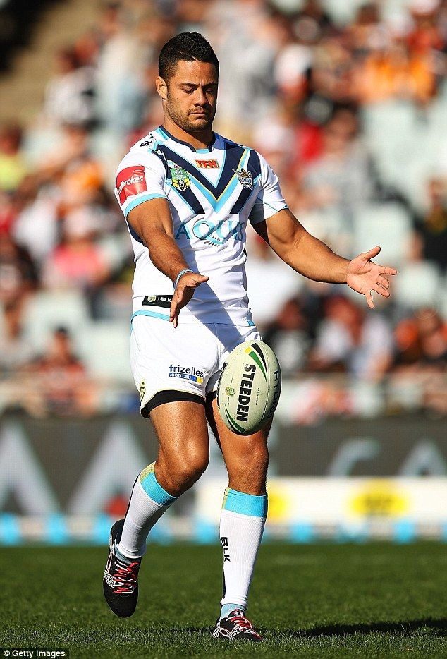 Jarryd Hayne was playing his second game for Gold Coast Titans on Saturday against Wests Tigers after his decision to return to NRL at the start of August